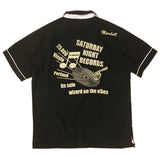"【uscountrystore】-  HOUSTONHOUSTON BOWLING SHIRT ""RECORD"" #40380 黑膠唱片 保齡球衫"