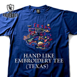 HOUSTON - HAND LIKE EMBROIDERY TEE (TEXAS) #21941 德州圖樣 手震刺繡短Tee