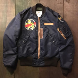 【uscountrystore】-  BIRDIE MADEBIRDIE MADE L-2A FLIGHT JACKET, 449TH FTR SQ, POST WW2 1947, CUSTOM ORDER