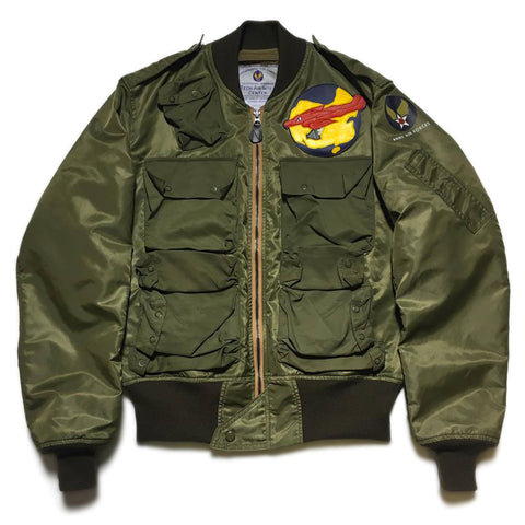 【uscountrystore】-  BIRDIE MADEBIRDIE MADE L-2 FLIGHT JACKET, C.B.I. 35th PHOTO RECON SQ, THEATER MADE STYLE 1945