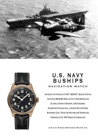 【uscountrystore】-  BIRDIE'S COLLECTIONUSN BuSHIPS WATCH by JAMIN & BIRDIE BROTHERS WATCH Co.