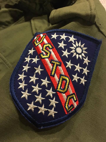 【uscountrystore】-  MIMURA YOKOMIMURA YOKO USTDC Patch, US Taiwan Defense Command, '70'S VERSION, for M51 M65 field coat