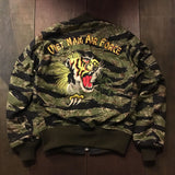 【uscountrystore】-  BIRDIE MADEBIRDIE MADE VNAF HUEY TIGER STRIPE L-2B FLIGHT JACKET w/ DRAGON & TIGER EMBROIDERIES, REVERSIBLE, TEST SAMPLE
