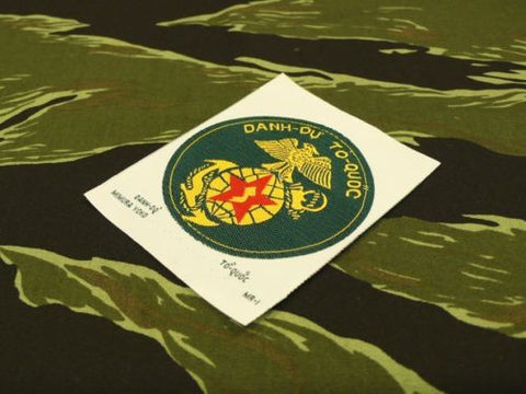 【uscountrystore】-  MIMURA YOKOMIMURA YOKO VIETNAM MARINES WOVEN POCKET PATCH, for ERDL jacket