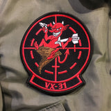 【uscountrystore】-  MIMURA YOKO2020 US NAVY VX-31 DUST DEVILS TOP GUN PATCH SET, for CWU-36/P CWU-45/P Flight Jacket