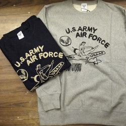 【uscountrystore】-  HOUSTONHOUSTON - PAINTED PRINT SWEAT (USAAF) 辣妹轟炸機 #21717