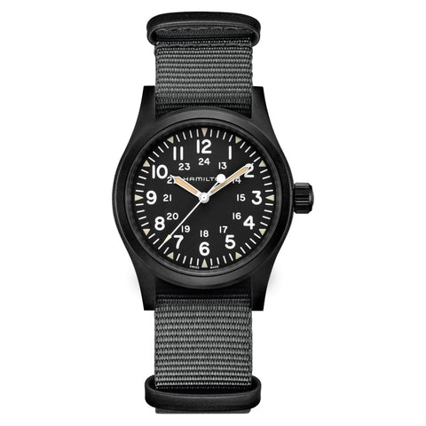 【uscountrystore】-  HAMILTON WATCHHAMILTON KHAKI FIELD MECHANICAL-BLACK
