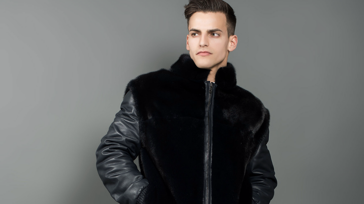 Men's Mink fur Coats