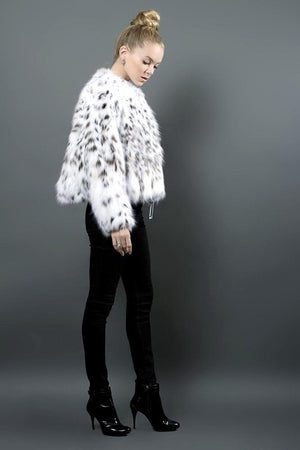 White Lynx fur jacket