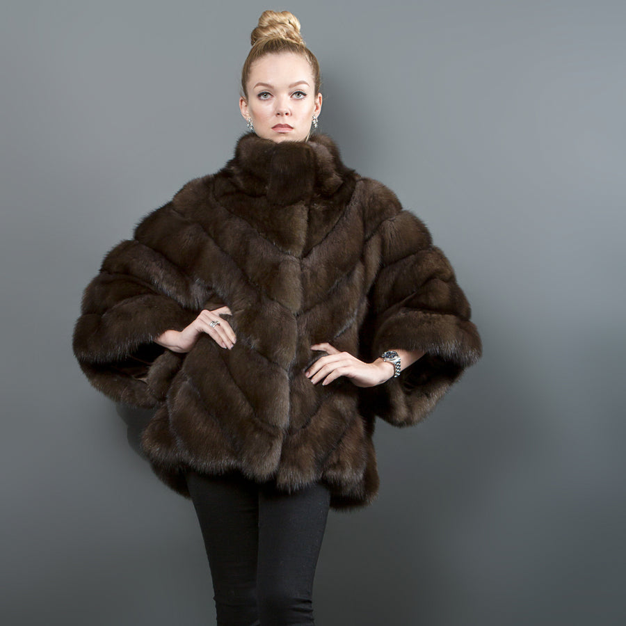 Russian Sable Poncho