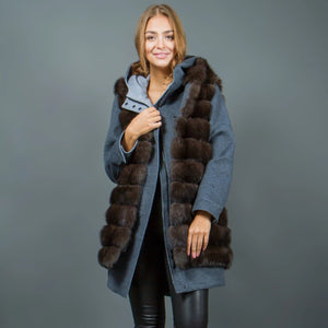 Loro Piana cashmere Parka and Russian Sable vest