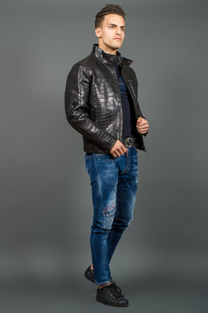Crocodile leather Jacket