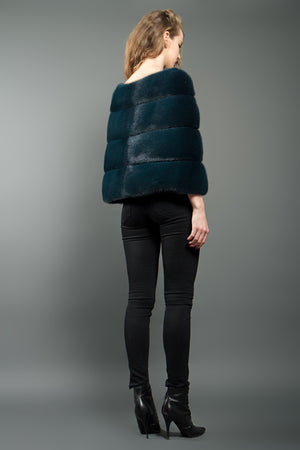 Emerald Green Mink Fur Bolero