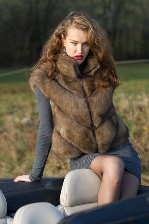 Russian Barguzin Sable Short Vest