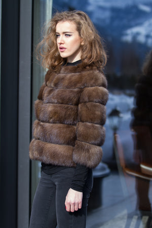 Russian Barguzin Sable Fur Jacket