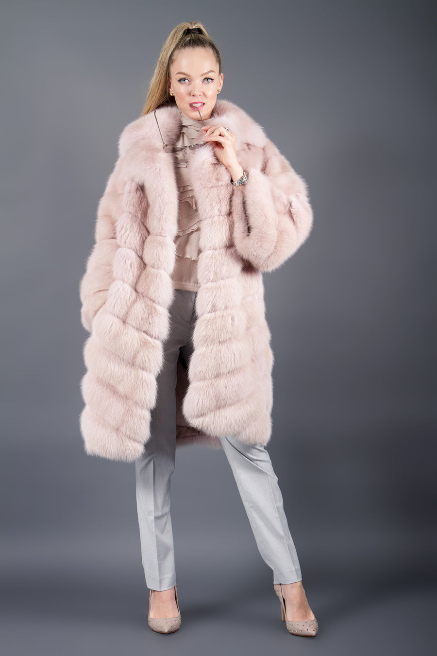 Dyed Pink Sable coat