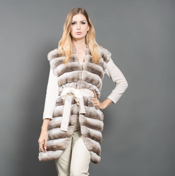 Beige Chinchilla Gilet