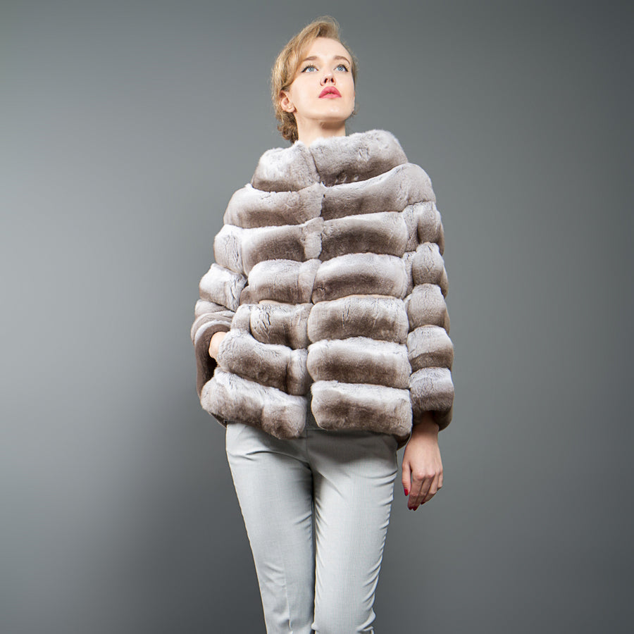 Beige Chinchilla fur Jacket
