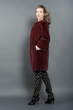 Bordeaux Mink Coat
