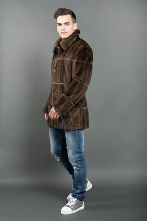 Brown Mink Men Jacket