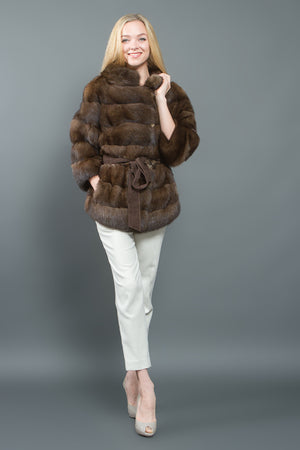 Brown Russian Barguzin Sable Jacket