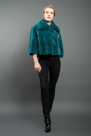 Green Mink Short Jacket