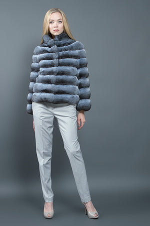 Light Blue Chinchilla Jacket