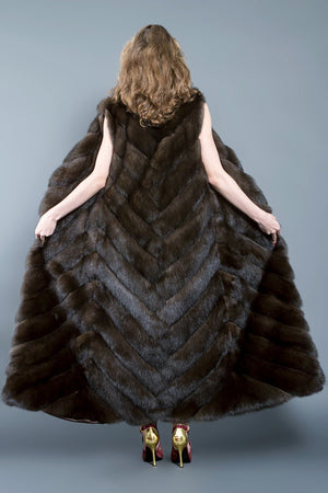 Long Russian Barguzin Sable Fur Vest