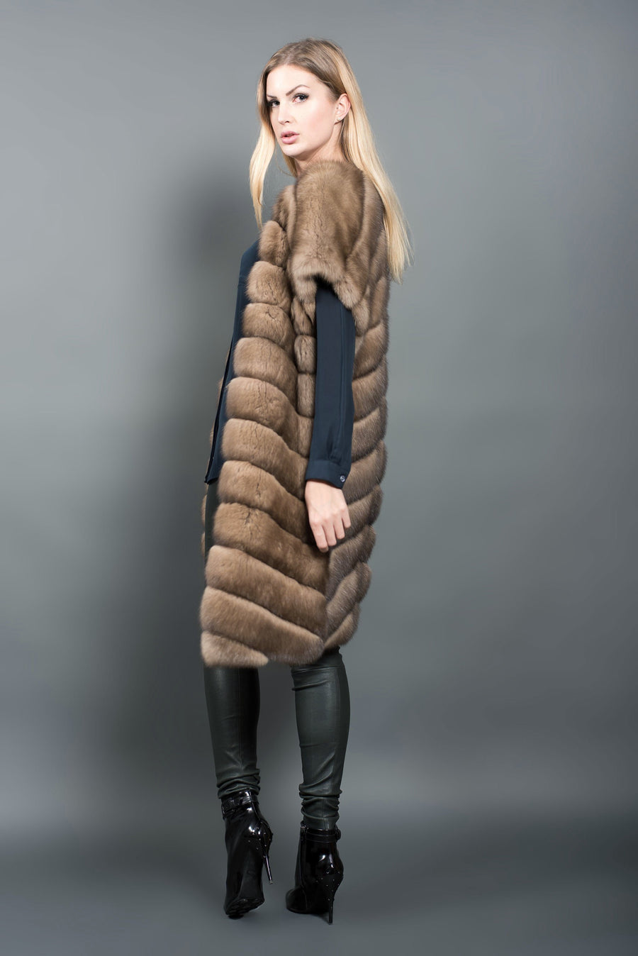 russian sable gilet