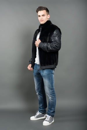 Mink jacket for men