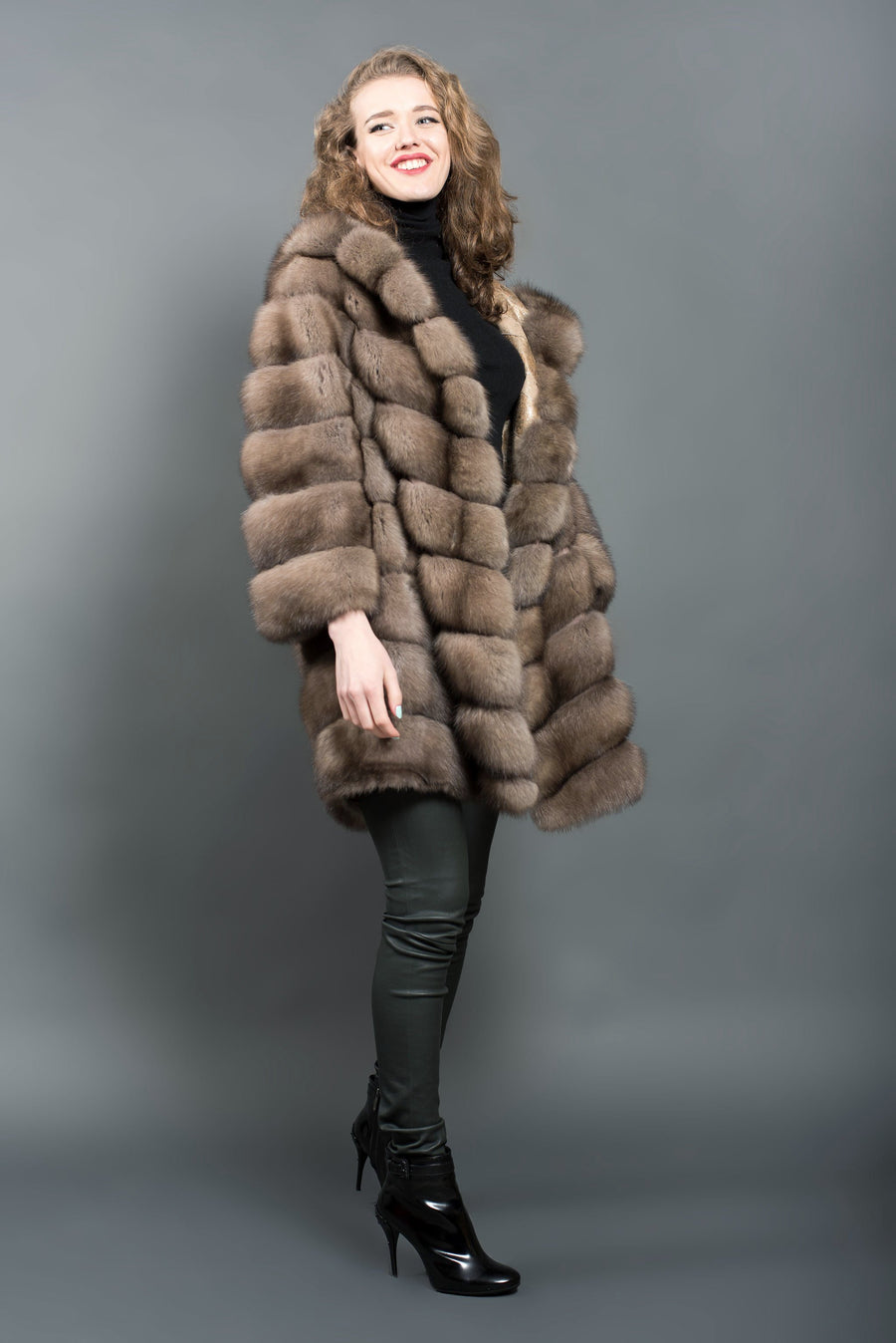 Russian sable reversible coat