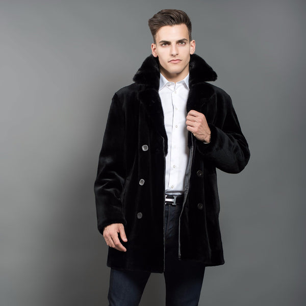 0ae30104c03a Shaved Black Mink Coat