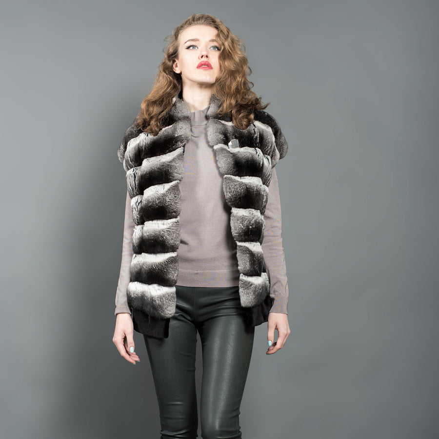 Natural Chinchilla Fur Vest