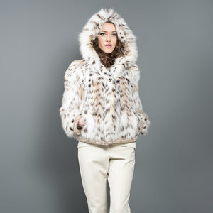 Lynx Fur Bomber Jacket