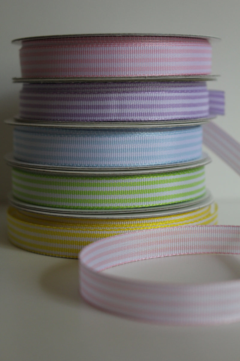 Candy Stripe Satin Ribbon - 5 Metre Reel