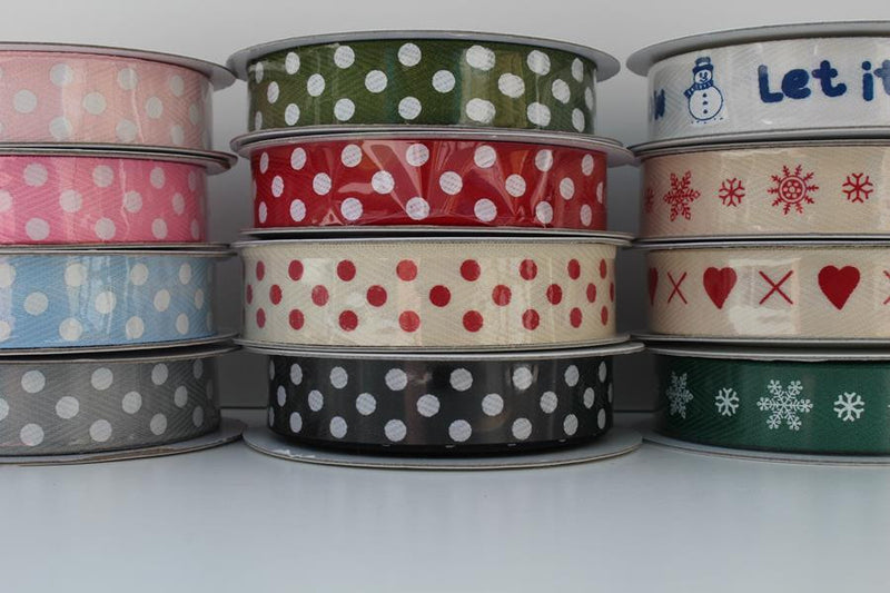 Printed Cotton Twill Tape - 4 Metre Reel