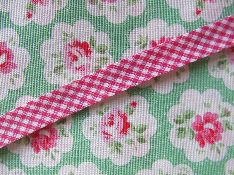Gingham Check Bias Binding