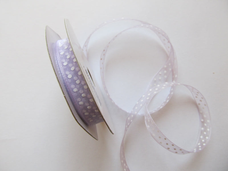 Polka Dot Organza Ribbon  7 Metre Reel