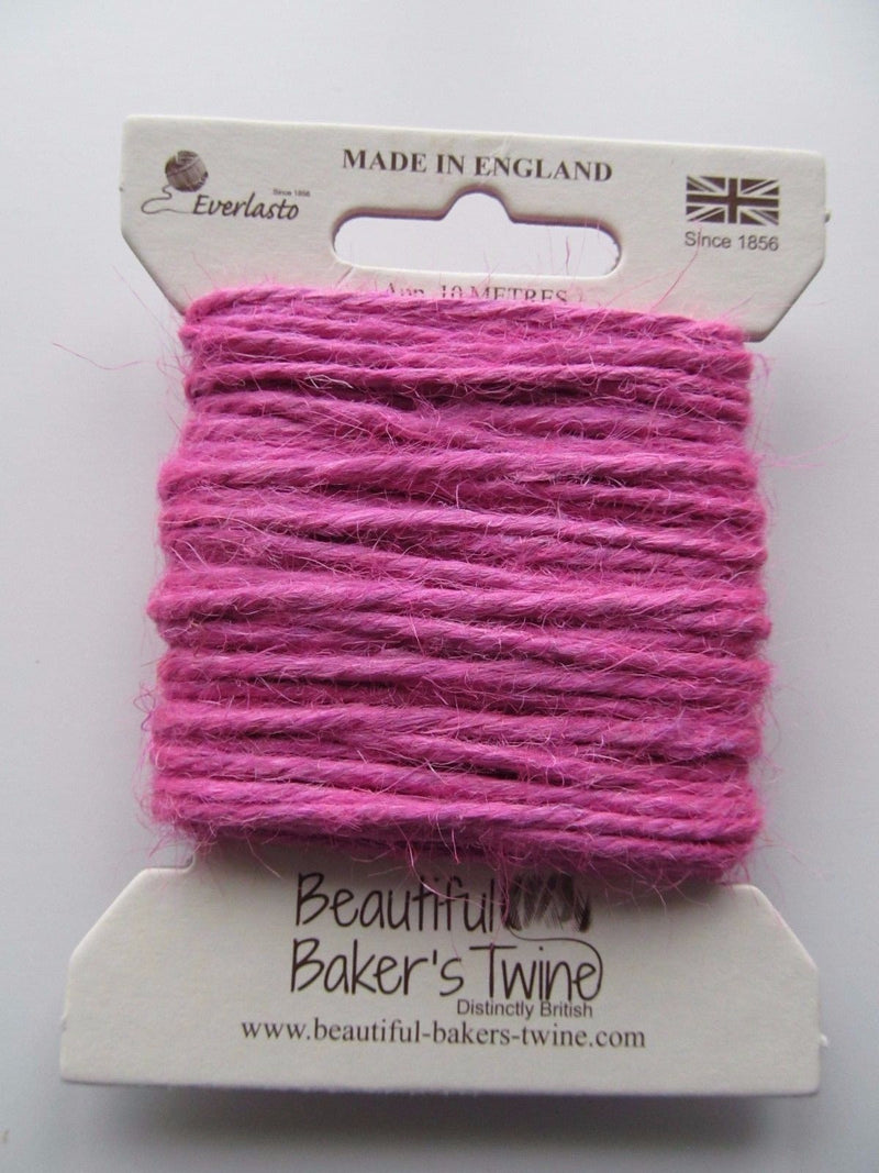 Coloured Jute Craft Twine 10m Card