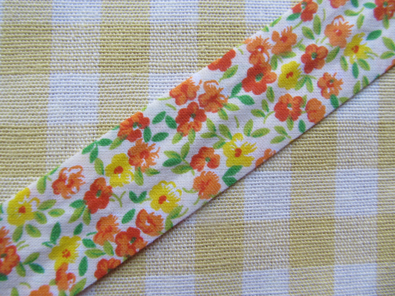 Floral Cotton Bias Binding