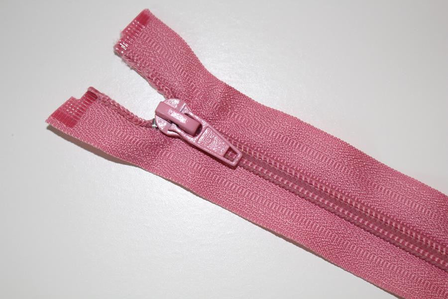 75cm Pink Open End Chunky Zip