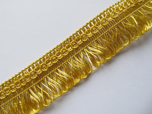 30mm Wide Fine Silky Loop Fringe