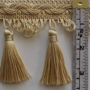 85mm Silky Traditional Polycotton Tassel Fringe