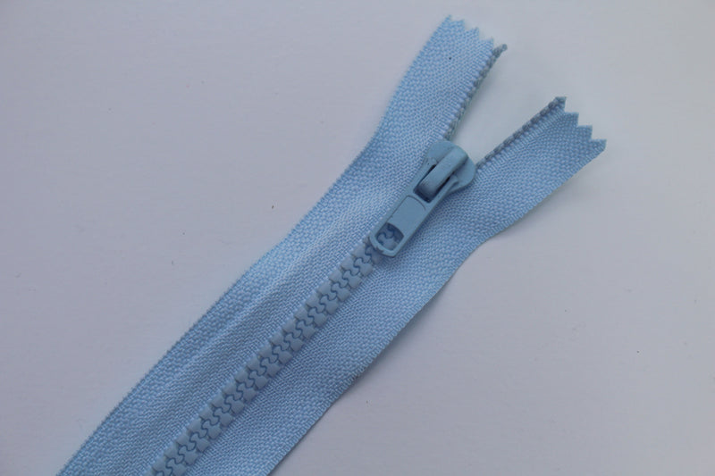 pale blue chunky zip