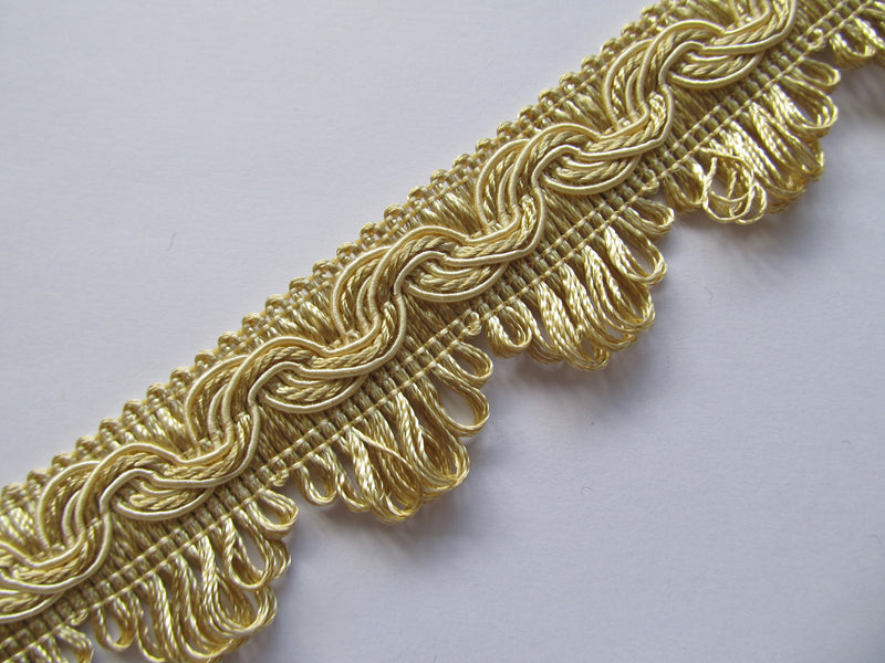 35mm Silky Polycotton Fringed Fan Braid