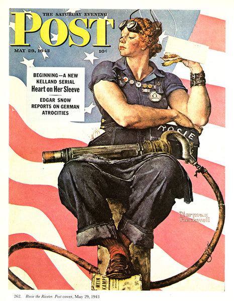 Rosie the Riveter: Normann Rockwell