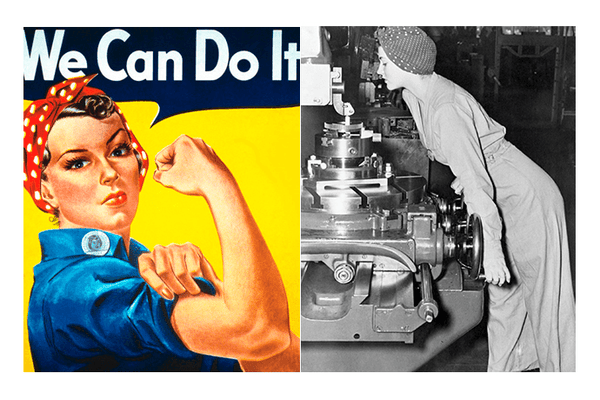 Rosie We Can Do It poszter és Naomi Parker Fraley