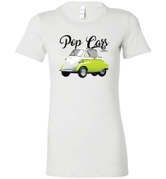 Pop Cars - Isetta - Fashion Women Bomuld T-shirt