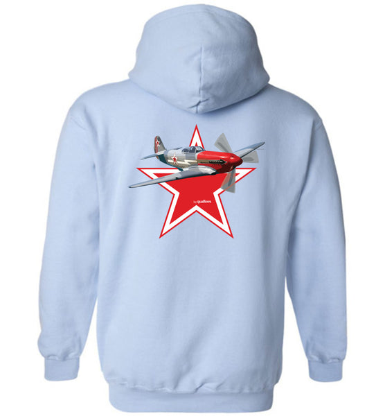 WWII - Yak 3 - Bómull og Polyester Hoodie