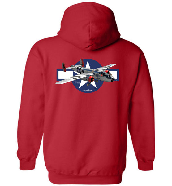 WWII - B-25 Mitchell - Cotton agus Polyester Hoodie